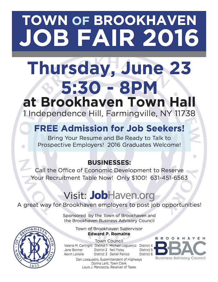 Town of Brookhaven Job Fair - Farmingville, NY